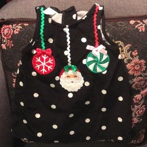 18 months polka dot Christmas dress